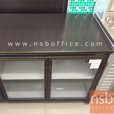 ตู้ครัวอลูมิเนียม SANKI หน้าบานกระจกใส รุ่น SMC 78H*198W cm.   :<p>ขนาด 198W*58.5D*78H cm. /โครงสร้างผลิตจากเหล็กซิงค์ครอบด้วยอลูมิเนียมคุณภาพดี / 4 ประตูบานเปิดกระจกใส / ภายในมีชั้นวางของอเนกประสงค์ / ผลิตอลูมิเนียมสีเงินและสีชา</p>