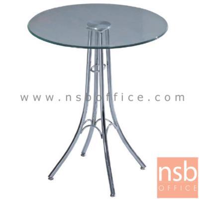 โต๊ะกระจกนิรภัย Di60*75D cm. ขาเหล็กโครเมี่ยมทรงหอไอเฟล (ผลิตหน้ากลมและหน้าเหลี่ยม):<p>ผลิตหน้าโต๊ะ 2 แบบคือ แบบเหลี่ยม และแบบกลม ขนาด Di60*75H cm. / TOP กระจกนิรภัย โครงขาเหล็กชุบโครเมี่ยม หน้ากระจกผลิต 2 แบบคือ กระจกใส และกระจกดำ</p>
