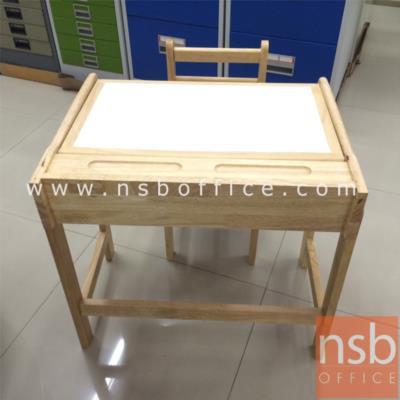 ชุดโต๊ะไม้ยางพาราล้วน สำหรับเด็ก:<p>โต๊ะไม้ยางพาราล้วนสีอ่อน</p>
