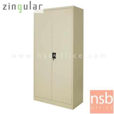 ตู้เหล็ก 2 บานเปิดทึบสูง 185 ซม. รุ่น ZINGULAR-ZSH-756  มี 3 แผ่นชั้น:<p>ขนาด 91.7W*45.7D*185H cm. บานเปิดทึบ 2 ประตู ภายในมี 3 แผ่นชั้น(4 ช่อง) แผ่นปรับระดับได้ /โครงผลิตจากเหล็กหนา 0.6 มม. พ่นสีด้วยระบบ Epoxy สีเรียบเนียบไปกับเนื้อเหล็ก ใช้สำหรับเก็บแฟ้มหรือวัสดุอุปกรณ์อเนกประสงค์ /มีให้เลือก 2 สีคือสีครีม และสีเทาสลับ(เทา/ครีม)</p>