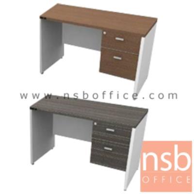โต๊ะทำงาน 2 ลิ้นชักข้าง TY-11S:<p>ขนาด 120W*60D*75H cm. TOP หนา 25 มม. ผิวเมลามีน กันชื้น กันร้อน</p>