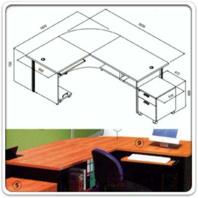 โต๊ะเคาเตอร์นั่ง L-Shape ขนาด 203.5W* 163.5D* 75H cm. พาร์ทิชั่นสีสัน หน้าโต๊ะเมลามีน:<p>เลือก L-Left หรือ L-Right / ประกอบด้วย โต๊ะทำงาน โต๊ะคอมพิวเตอร์ แผ่นชั้นวางแฟ้ม ตู้ลิ้นชักล้อเลื่อนและที่วางซีพียู / ขนาด 203.5W*163.5D*75H cm / Top ลึก 60 ซม. ผู้มาติดต้องสามารถนั่งกรอกเอกสารได้ / สีพาร์ทิชั่นมี 16 สี / ส่วนของไม้ผลิตสีเชอร์รี่, สีบีช, สีเมเปิ้ล, สีเทาควันบุหรี่, สีเทาเข้ม และสีดำ / แถมฟรี แผ่นป้ายประชาสัมพันธ์ ผลิตจากเหล็ก</p>