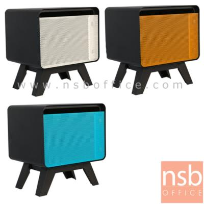ตู้ข้างเหล็กบานเปิดเตี้ย 52H cm.:<p>ขนาด 46.5W*40.7D*52H cm. ทั้งตัวเป็นสีดำล้วนหน้าบานเปิด&nbsp;ผลิต 3 สี คือ สีขาว-ดำ/สีส้ม-ดำและสีฟ้า-ดำ</p>