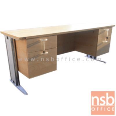 โต๊ะทำงาน 4 ลิ้นชัก  ขนาด 150W ,165W ,180W cm.  เมลามีน:<p>ผลิต 3 ขนาดคือ 150W, 165W และ 180W (*60D cm) / ผลิตขาเหล็ก, ขาพียู, ขาพียูชุปโครเมี่ยม ร้อยสายไฟได้ / ผิวเมลามีน กันชื้น กันร้อน</p> <p><span><span></span></span></p>
