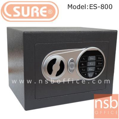 ตู้เซฟดิจตอล SR-ES800 เจาะช่องหยอดเงิน น้ำหนัก 2.3 กก. (1 รหัสกด / ปุ่มหมุนบิด) :<p>ขนาด 23*17D*17H cm. น้ำหนัก 2.3 กก. / โครงตู้สร้างด้วยเหล็กคุณภาพ&nbsp; สามารถยึดตัวตู้กับพื้นหรือผนังได้ / เปลี่ยนรหัสได้โดยใช้ตัวเลข 3-8 ตัว /ระบบกุญแจไขฉุกเฉินสามารถเปิดได้กรณีลืมรหัสผ่านหรือแบตเตอร์รี่หมด ระบบล็อคอัตโนมัติ ในกรณีกดรหัสผิด 3 ครั้ง</p>