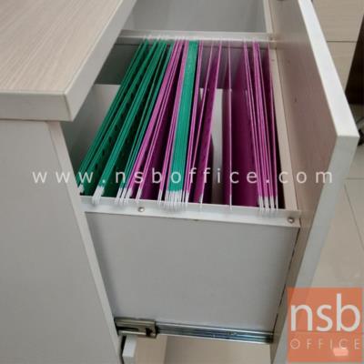 ตู้เอกสารสูง 5 ชั้น บนบานเปิดทึบ ล่างลิ้นชักแฟ้มแขวน  180H, 200H cm. เมลามีน:<p>ผลิต 2 ขนาดคือ 90W*40D*200H cm. (ด้านบนวางแฟ้มได้ 3 ช่อง) และ 90W*40D*180H cm&nbsp;(ด้านบนวางแฟ้มได้ 2 ช่องครึ่ง)</p>