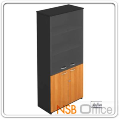 ตู้เอกสารสูง 5 ชั้น บนบานเปิดกระจก ล่างบานเปิดทึบ 180H, 200H cm. เมลามีน:<p>ผลิต 3 ขนาดคือ 80W*40D*200H cm., 90W*40D*200H cm. (วางแฟ้มได้ 5 ช่อง) และ 90W*40D*180H cm&nbsp;(วางแฟ้มได้ 4 ช่องครึ่ง) / ปิดผิวเมลามีน กันชื้น กันร้อน&nbsp;</p>