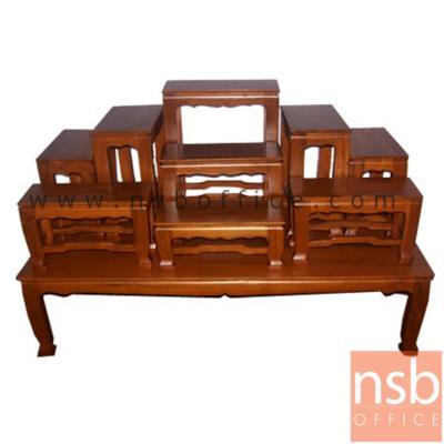 โต๊ะหมู่บูชาหมู่  หมู่ 7 , 9 หน้ากว้าง 7 , 9 นิ้ว รุ่น NT03:<p>โต๊ะหมู่ไม้สัก หน้า 7 , 9&nbsp; หน้ากว้าง 7 นิ้ว&nbsp;</p>