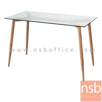 """โต๊ะกระจก รุ่น BEGONIA-FIX ขาเหล็กกลมเรียว:<p>ขนาด 120W*75D*76H cm. โครงโต๊ะผลิตจากเหล็กปิดด้วยกระดาษลายไม้ หน้า TOP กระจกใส กระจกนิรภัยหนา 10 mm. ขาเหล็กกลมเรียว สามารถใช้ร่วมกับ รหัสเก้าอี้ <span style=""""color: #ff0000;""""><a href=""""http://www.nsboffice.com/productdetail-gid-13728.aspx"""" target=""""_blank""""><span style=""""color: #ff0000;"""">B22A118</span></a></span>&nbsp;, รหัสเก้าอี้ <span style=""""color: #ff0000;""""><a href=""""http://www.nsboffice.com/productdetail-gid-8872.aspx"""" target=""""_blank""""><span style=""""color: #ff0000;"""">B29A147</span></a></span>&nbsp;, และ รหัสเก้าอี้<span style=""""color: #ff0000;""""> <a href=""""http://www.nsboffice.com/productdetail-gid-13178.aspx"""" target=""""_blank""""><span style=""""color: #ff0000;"""">B29A242</span></a></span></p>"""