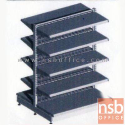 ชั้นเหล็กซุปเปอร์มาร์เก็ต 2 หน้า 5+5 แผ่นชั้น สูง 180 cm. (หนา 0.7 mm.) แบบตัวตั้ง และแบบตัวต่อ:<p>ขนาด 90W*90D*180H cm. / ชั้นเหล็กซุปเปอร์มาร์เก็ตวางได้สองด้านมีแผ่นชั้น 5+5 แผ่น สามารถปรับระดับได้&nbsp; มีเหล็กหนา 0.7 มม. / ตะแกรงด้านหลังมีความถี่ ขนาด (50*50 มม.) ขนาดของลวด Di 3 mm. /&nbsp;<span>แผ่นชั้นผลิตสีขาว / โครงเสาผลิต 6 สีคือ สีแดง ส้ม น้ำเงิน เหลือง ขาว และเขียวบางจาก (กรณีต้องการผลิตแผ่น</span><span>ชั้นตามสีโครงเสา สามารถผลิตได้กรณีมีจ</span><span>ำนวนมากกว่า 10 ตัวค่ะ)</span></p>