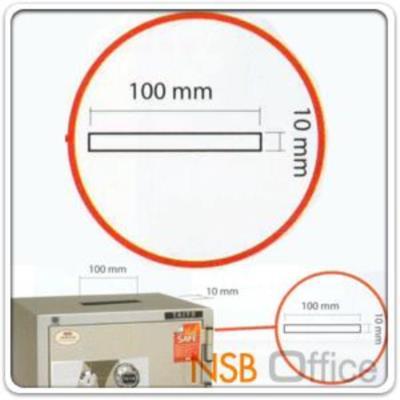 ตู้เซฟบริจาค TAIYO TS760K2C-05 มอก. 150 กก. 2 กุญแจ 1 รหัส (เจาะช่องรับบริจาค 10 cm ด้านบน):<p>มาตรฐาน ม.อ.ก. / ภายนอก 590(W)*551(D)*760(H) mm ภายใน 450(W)*355(D)*547(H) mm. ภายในมี 1 แผ่ชั้น 1 ลิ้นชักพร้อม 1 ลิ้นชักซ่อน / เปลี่ยนรหัสได้ / สามารถกันไฟได้ 2 ชั่วโมง / มีช่องรับบริจาคใส่เงินด้านบน เหมาะสำหรับศานสถานและองค์กรสาธารณะ</p>