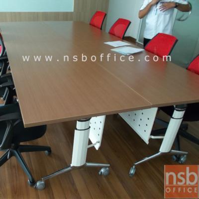 โต๊ะพับอเนกประสงค์ ขารุ่นใหม่ ล้อเลื่อน มีบังโป๊ YT-FTG20:<p>บังโป้เหล็กพับเก็บได้ / ผลิต 2 ขนาด 160W*60D และ 160W*80D cm. มีล้อเลื่อนเคลื่อนย้ายได้สะดวก / โต๊ะสามารถพับ และซ้อนได้เพื่อเป็นการประหยัดพื้นที่ในการเก็บ / โครงขาอบสีขาว แกนขาเหล็กชุบโครเมี่ยม ลูกล้อพียู(PU) ล็อคได้ เพิ่มความสะดวกด้วยมือจับเพื่อง่ายต่อการลากหรือเคลื่อนย้ายโต๊ะ รูปแบบทันสมัย&nbsp;</p>
