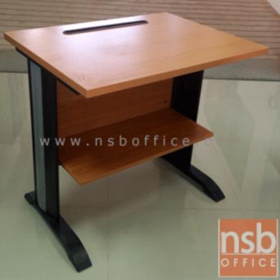 โต๊ะพริ้นเตอร์ขาเหล็ก 80W, 100W cm พร้อมชั้นวางกระดาษด้านล่าง (ขาเลือกสีได้) ผิวเมลามีน:<p>ผลิต 2 ขนาดคือ 80W*60D*75H และ 100W*60D*75H cm / &nbsp;ขาพียูชุปโครเมี่ยม ร้อยสายไฟได้ &nbsp;/ ผิวเมลลามีน กันชื้น กันร้อน /</p> <p>&nbsp;</p>