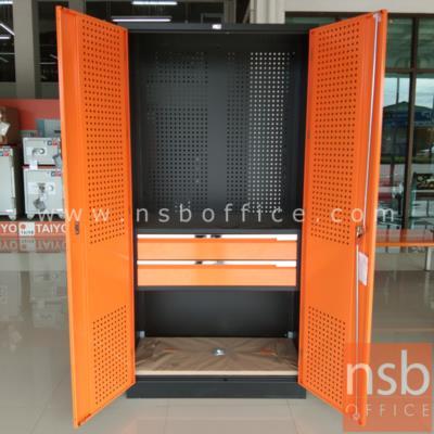 ตู้เก็บเครื่องมือช่าง 2 บานเปิดสูง 91.6W*45.7D*183H cm.:<p>ตู้เจาะรูแขวนพร้อม 2 ลิ้นชัก /เหมาะสำหรับการใช้งานในโรงงาน,อู่ซ่อมรถ หรือเก็บอุปรณ์เครื่องมือภายในบ้าน</p>