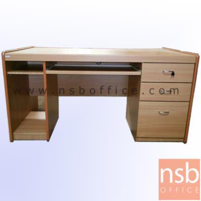 โต๊ะคอมพิวเตอร์  150W cm. (3 ลิ้นชัก มีซีพียู) :<p>โต๊ะคอมพิวเตอร์ มีซีพียู 3 ลิ้นชัก ผิวพีวีซี ขอบยาง</p>