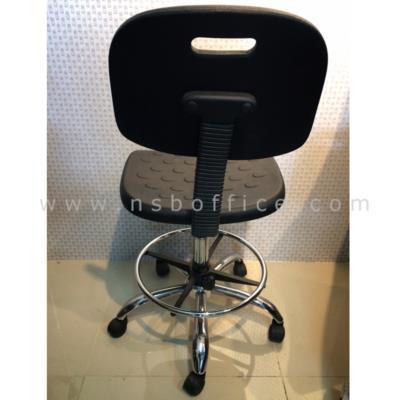 เก้าอี้บาร์สูง มีพนักพิง PE-BAL-9002/1 พียูโฟม PU Foam ฉีดขึ้นรูป โช๊คแก๊ซปรับระดับ W45*D52*H90 cm:<p>ขนาด W45*D53*H90 cm มีที่พักเท้า (ปรับระดับได้อิสระ) / ที่นั่ง-พนักพิงพียูโฟม PU Foam ฉีดขึ้นรูป&nbsp;สีดำ นั่งสบายไม่แข็ง /&nbsp;โช๊คแก๊ซปรับระดับ ขาเหล็กชุบโครเมี่ยม แข็งแรง (รุ่นนี้รับประกันเฉพาะโครงขาโครเมี่ยม ส่วนชิ้นพียูโฟมที่นั่งและพนักพิงจำหน่ายแยก)</p>
