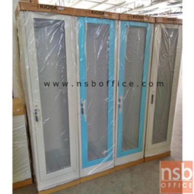 ตู้เหล็กเอนกประสงค์ 1 บานเปิดกระจกสูง 4 ช่อง TL-400 ( 44W*40.7D*176H cm):<p>ตู้โชว์บานเปิดกระจกสูง / 3 แผ่นชั้น ปรับระดับได้ / บานเปิดกระจกสูง พร้อม กุญแจล็อค / ขนาด 440(W)*407(D)*1760(H) ซม. / ผลิต 8 สี</p>