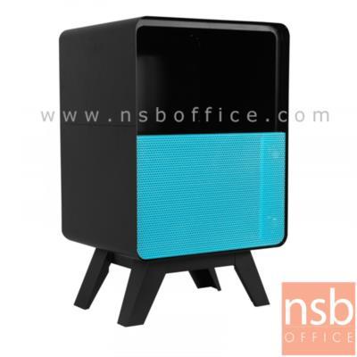 ตู้ข้างเหล็กบานเปิดกลาง 75H cm. รุ่น PT-02 :<p>ขนาด 46.5W*40.7D*75H cm. ที่วางของ 2 ชั้น ทั้งตัวเป็นสีดำล้วนหน้าบานเปิด&nbsp;ผลิต 3 สี คือ สีขาว-ดำ/สีส้ม-ดำและสีฟ้า-ดำ</p>