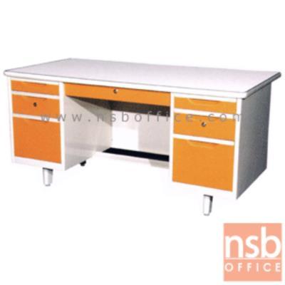โต๊ะทำงานเหล็กหน้าเหล็ก 7 ลิ้นชัก  :<p>ความกว้าง 3 ขนาด 4.5, 5 และ 6 ฟุต&nbsp;</p>