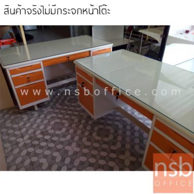 โต๊ะทำงานเหล็กหน้าเหล็ก 7 ลิ้นชัก   รุ่น TM45,TM5F,S-3472:<p>ความกว้าง 3 ขนาด 4.5, 5 และ 6 ฟุต</p>