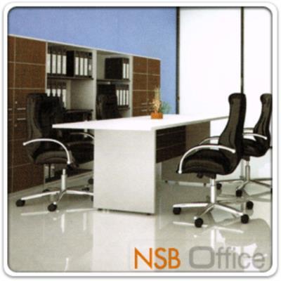 โต๊ะทำงาน  รุ่น SR-1809 สำหรับ 6 ,7 ,8 ที่นั่ง ขนาด 120W cm.  เมลามีน สีเวงเก้-ขาว:<p>ขนาด ก180*ล90*ส75 ซม. / TOP เมลามีน หนา 25 มม. บังโป้เดินคิ้วอลูมิเนียม รูปแบบทันสมัย / ผลิตสีสีเวงเก้-ขาว (ตามรูปประกอบ)</p>