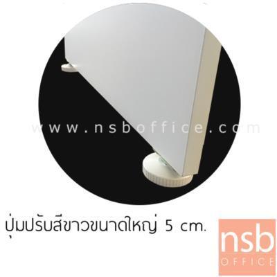 โต๊ะทำงานตัวแอล 2 ลิ้นชัก รุ่น SR-N80 ขนาด 150W cm. เมลามีน สีเนเจอร์ทีค-ขาว