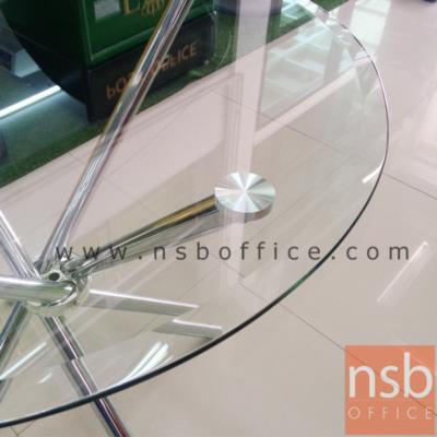 โต๊ะหน้ากระจก รุ่น SR-TCG-08  80Di cm. ขาเหล็กชุบโครเมี่ยม:<p>ขนาด 80Di* 76H cm. ขนาดเส้นผ่านศูนย์กลาง 80*สูง76 ซม. หน้ากระจกเป็นกระจกนิรภัย หนา 8 มม. ขาโต๊ะทำจากเหล็กชุบโครเมี่ยม (กลม) หนา 0.8 มม. สินค้าสามารถรองรับน้ำหนักได้ไม่เกิน 25 กิโลกรัม **โดยการกระจายน้ำหนักในการจัดวาง**</p>