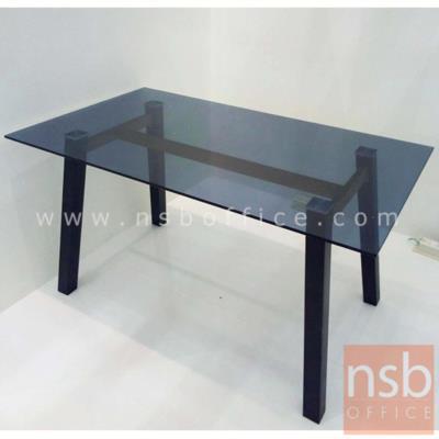โต๊ะเหลี่ยมหน้ากระจก รุ่น SR-CGT1401 ขนาด 140W cm. ขาเหล็กพ่นดำ:<p>ขนาด 140W*80D*75H cm.<span>หน้า TOP โต๊ะกระจกสีชาดำหนา 10 มม. เป็นกระจกนิรภัยให้ความปลอดภัยในการใช้งาน / ขาเหล็กพ่นดำ เป็นเหล็กกล่อง ทรงจัตุรัส หนา 1 มม. / คานด้านล่างเป็นเหล็กกล่องแลปปิ้ง หนา 1 มม.</span><strong>**สินค้ารับน้ำหนักได้ไม่เกิน 45 กก.**</strong></p>