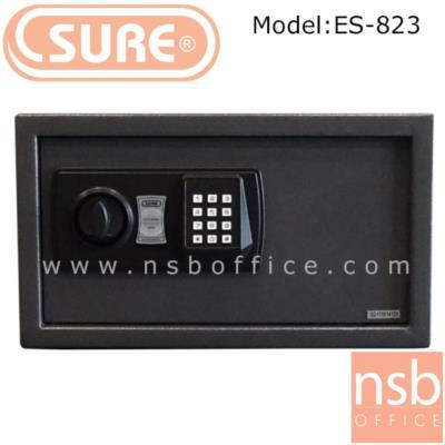 ตู้เซฟดิจตอล SR-ES823  น้ำหนัก 9.5 กก. (1 รหัสกด / ปุ่มหมุนบิด) :<p>ขนาด 40.5W*33.5D*22.9H cm. น้ำหนัก 9.5 กก. / โครงตู้สร้างด้วยเหล็กคุณภาพ &nbsp;สามารถยึดตัวตู้กับพื้นหรือผนังได้ / เปลี่ยนรหัสได้โดยใช้ตัวเลข 3-8 ตัว /ระบบกุญแจไขฉุกเฉินสามารถเปิดได้กรณีลืมรหัสผ่านหรือแบตเตอร์รี่หมด ระบบล็อคอัตโนมัติ ในกรณีกดรหัสผิด 3 ครั้ง /สามารจัดเก็บโน๊ตบุ๊คขนาด 14 นิ้วได้</p>