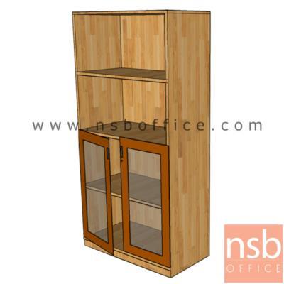 ตู้เอกสารบนโล่ง ล่างบานเปิดกระจก 150H, 160H cm. ผิวเมลามีน:<p>ผลิต 3 ขนาดคือ 80W*40D*160H cm. ,90W*40D*150H cm. และ 90W*40D*160H cm. /บนโล่ง-ล่างบานเปิดกระจก/ปิดผิวเมลลามีน กันชื้น กันร้อน&nbsp;</p>