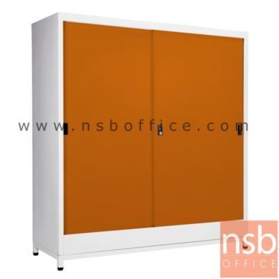 ตู้บานเลื่อนทึบ 4 ฟุต สูงพิเศษ 122H cm (พร้อมฐานรองแบบขาลอย) รุ่น SOD-120   :<p>ขนาด 118.5W*40.7D*122H cm. / กุญแจล๊อค</p>