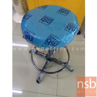 เก้าอี้สตูลเตี้ย เบาะกลม G-SH01 ขนาด Di30.5*H49 cm ขาเหล็ก:<p>เส้นผ่าศูนย์กลาง Di30.5*H49 cm (ยังไม่ปรับระดับ) / ขาเหล็กพ่นดำ 4 แฉก / ปรับสูงต่ำโดยใช้สกรูล๊อค มีที่พักเท้า เบาะที่นั่งหุ้มหนังเทียม เลือกสีได้</p>