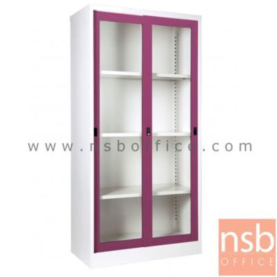 ตู้บานเลื่อนกระจก สูง 183 ซม. รุ่น SGD-18 :<p>91.4(W)*45.7(D)*182.9(H) cm. / Keylock / ผลิต 8 สี</p>