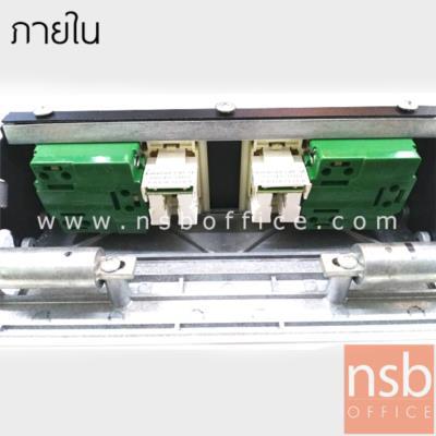 """ป็อบอัพขอบสี่เหลี่ยม รุ่น RA75 (2 power, 2 lan):<p>ขนาด 26.5W*13D*6.5H cm. <span>(ขนาดเจาะช่องไม้ 23W*11.5D cm.)&nbsp;</span>ฝาผลิตจากอลูมิเนียม มีปุ่มกดเปิดฝาปลั๊กไฟอัตโนมัติเมื่อต้องการใช้งาน&nbsp;&nbsp;<span>(ชุดปลั๊กขนาด 6.8W*2.8H cm)&nbsp; <span style=""""font-size: medium; color: #ff0000;""""><strong><a href=""""https://youtu.be/RmxaEq6FaHc"""" target=""""_blank""""><span style=""""color: #ff0000;"""">สาธิตวิธีการใช้งาน(youtube)</span></a></strong></span></span><br /><br /><span style=""""text-decoration: underline;"""">หมายเหตุ</span> หัว LAN keystone ชนิด cat-5e (กรณีต้องการใช้สายแลน cat-6 มาต่อ แนะนำใช้สายยี่ห้อ LINK เนื่องจากขนาดสายจะเล็กกว่าของ AMP และไม่มีแกนด้านใน)</p>"""