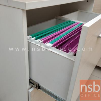 ตู้เอกสารบนสูง บนบานเปิดกระจก ล่าง 2 ลิ้นชักแฟ้มแขวน มีตรงกลางช่องโล่ง  180H, 200H cm. เมลามีน:<p>ผลิต 2 ขนาดคือ 90W*40D*200H cm. (ด้านบนวางแฟ้มได้ 3 ช่อง) และ 90W*40D*180H cm&nbsp;(ด้านบนวางแฟ้มได้ 2 ช่องครึ่ง)</p>