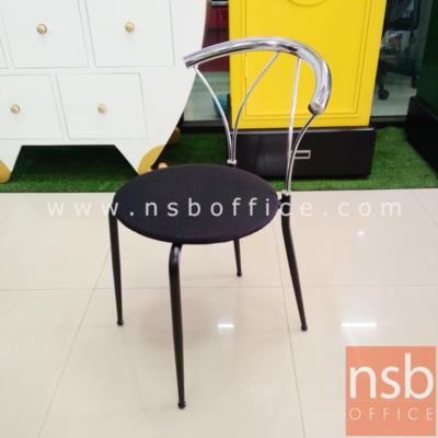 เก้าอี้โมเดิร์นโครงเหล็กชุบโครเมี่ยม รุ่น Hyne dinner:<p>เก้าอี้โครงเหล็ก ที่นั่งหุ้มผ้า ขนาด 39W*46.5D*75H cm.&nbsp;</p>