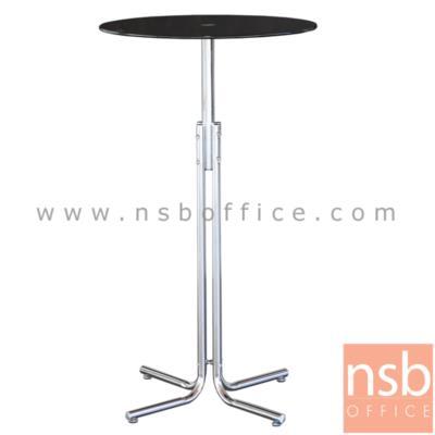 โต๊ะบาร์กระจกกลม รุ่น ASALIA-FIX ขนาด 65Di* 116H cm. ขาโครเมี่ยม:<p>ขนาด 65Di*116H cm. หน้ากระจกกลมนิรภัย ขาโต๊ะเป็นขา 4 แฉก โครงขาเหล็กชุบโครเมี่ยม&nbsp;</p>