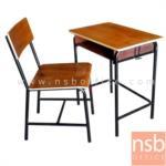 A17A030:ชุดโต๊ะและเก้าอี้นักเรียน รุ่น PJ-CTBB-7  ระดับประถม ขาเหล็กกลมพ่นดำ