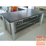A13A023:โต๊ะผู้บริหารตัวแอล 160W, 180W cm. รุ่น RZ-LIVE พร้อมตู้ข้าง