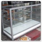 G06A014:ตู้กระจกโชว์สินค้า ล้อเลื่อน สูง 100 ซม.   โครงอลูมิเนียมล้วน