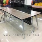 ชุดโต๊ะทำงานกลุ่ม 2 ที่นั่ง  รุ่น TJ-672 ขนาด 120W cm. พร้อมบังตาเข้าชุด ขาเหล็กสีเทาเมทัลลิค