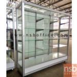 G06A017:ตู้กระจกโชว์สินค้า โครงอลูมิเนียมล้วน สูง 145 ซม. มีล้อ