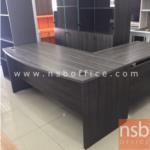 A16A069:โต๊ะผู้บริหารหน้าโค้งตัวแอล รุ่น WIS-5421 พร้อมตู้แขวน 3 ลิ้นชัก