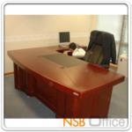 A06A021:โต๊ะผู้บริหารตัวแอล Frederic 200W*100D cm (3 ชิ้น พร้อมตู้ลิ้นชักและตู้ข้าง)