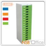 E04A036:ตู้เหล็กเก็บแบบฟอร์ม15 ลิ้นชัก SURE-CFC-215 หน้าบานสีสัน (มี 4 สีให้เลือก)