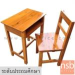 A17A066:ชุดโต๊ะและเก้าอี้นักเรียนไม้สักทองล้วน รุ่น MINNESSOTA (มินเนโซตา)  ระดับประถมศึกษา