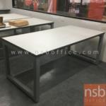 A05A156:โต๊ะประชุมหน้า TOP เหลี่ยม 200W*120D*75H cm. ขาเหล็กเหลี่ยมใหญ่พิเศษ 2 1/2 นิ้ว