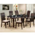 G14A077:ชุดโต๊ะรับประทานอาหารไม้อาคาเซีย 6 ที่นั่ง M-75