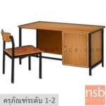 A17A001:ชุดโต๊ะและเก้าอี้ข้าราชการ รุ่น ILLINOIS (อิลลินอยส์)  ครุภัณฑ์โต๊ะระดับ 1-2