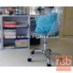 B29A122:เก้าอี้โมเดิร์นที่นั่งพลาสติกเคลือบเงา ขาเหล็กซุปโครเมี่ยม รุ่น PP9240-PC